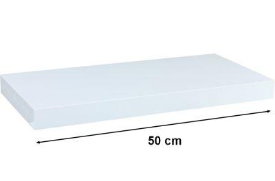 Fali polc STILISTA VOLATO - fényes fehér 50 cm
