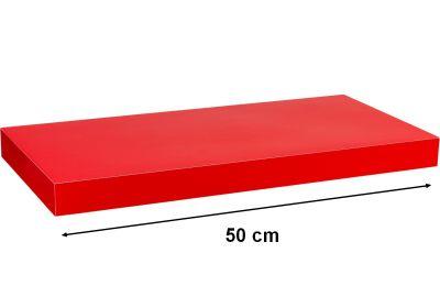 Fali polc  STILISTA VOLATO - fényes piros 50 cm