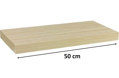Fali polc  STILISTA VOLATO - világos fa 50 cm