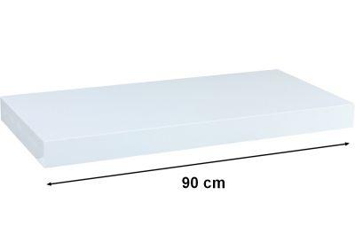 Fali polc  STILISTA VOLATO - fényes fehér  90 cm