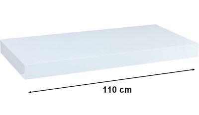 Fali polc  STILISTA VOLATO - fehér 110 cm