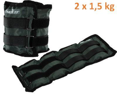 MOVIT bokasúly, 2 x 1,5 kg - szürke