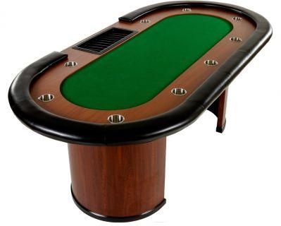 XXL póker asztal ROYAL FLUSH 9 pax 213 x 106 x 75cm - zöld