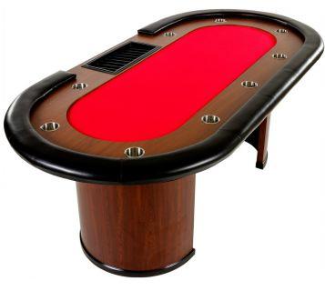 XXL póker asztal ROYAL FLUSH 9 pax 213 x 106 x 75cm - piros