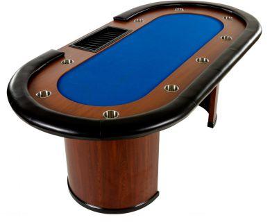 XXL póker asztal ROYAL FLUSH 9 pax 213 x 106 x 75cm - kék