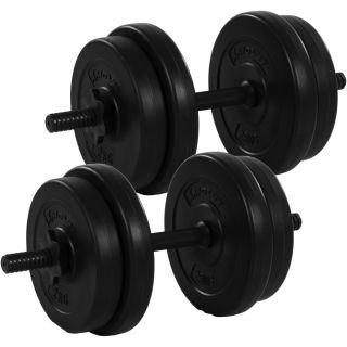 Egykezes súlyzó szett MOVIT® - 20 kg
