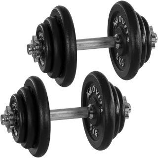 Egykezes súlyzó szett MOVIT® Profi - 40 kg