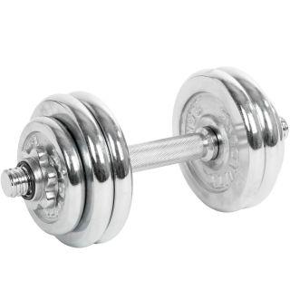 Súlyzó egykezes MOVIT® XXL 25 kg - ezüst