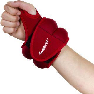 MOVIT csuklósúly, neoprén, 1,0 kg - piros