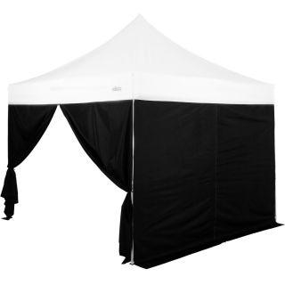 Készlet 2 db oldalfalból parti sátorhoz STILISTA 3x3 m fekete
