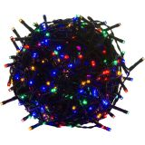 Karácsonyi LED világítás 40 m - színes 400 LED - zöld kábel