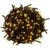 Karácsonyi LED világítás 60 m - meleg fehér 600 LED - zöld kábel