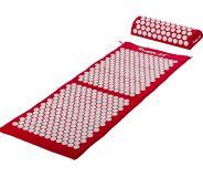 MOVIT akupresszúrás matrac 130 x 50 cm, párnával - piros