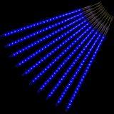 Karácsonyi LED dísz - hópelyhek - 240 LED kék