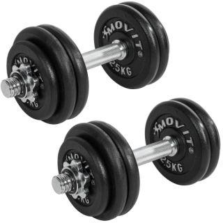 Egykezes súlyzó szett MOVIT® Profi - 30 kg