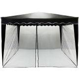 Szúnyogháló kerti sátorhoz INSTENT 3 x 3 m - fekete