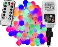 LED világítás 10m/100x LED - színes + távirányító