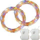 LED elemes lánc VOLTRONIC® 2db 10m/100x LED - színes