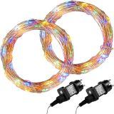 LED lánc VOLTRONIC® 2db 10m/100x LED - színes