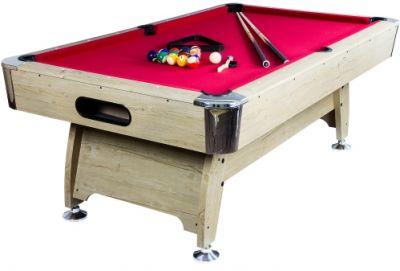 Pool biliárd asztal TUIN 7 ft 214 x 122 cm - piros világos