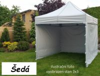Kerti pavilon PROFI STEEL 3 x 4,5 - szürke