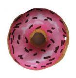Dekoratív párna 3D donut - rózsaszín