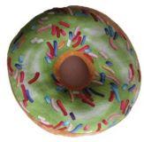 Dekoratív párna 3D donut - zöld