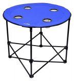Kemping asztal SPLIT 73 x 73 cm - kék