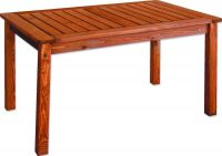 Kerti fa asztal HOLIDAY, pácolt FSC