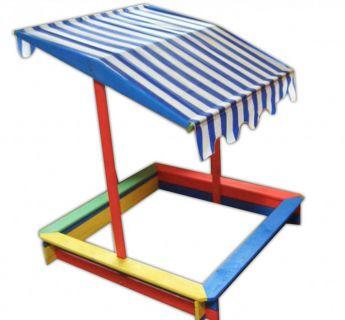 Gyerekhomokozó tetővel FSC - színes