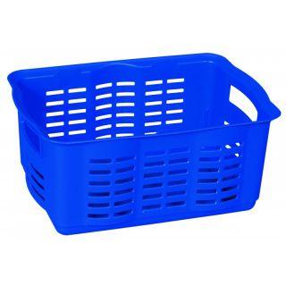 Tárolókosár fedéllel - M - kék CURVER