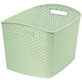 Polirattan kosár STYLE box- XL- krémszínű CURVER