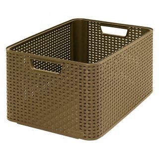 Műanyag tároló doboz STYLE BOX -L- kávé színű CURVER
