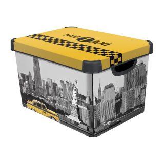 Fedeles tároló doboz - NEW YORK - L CURVER