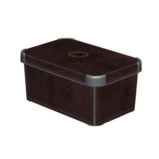 Műanyag tároló doboz DECO - S - LEATHER CURVER