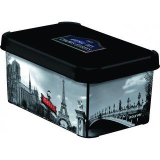 Műanyag tároló doboz DECO - S - Párizs CURVER