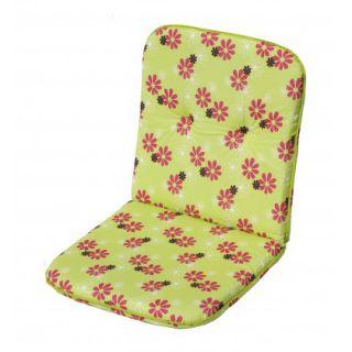 Kárpitozott ülőkék alacsony  fotelra SCALA zöld virágos 30330-220
