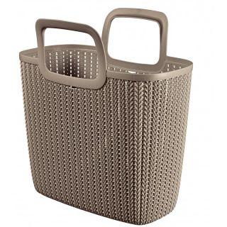 Bevásarló táska KNIT - barna