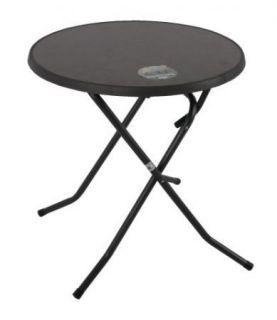 Kerti asztal PIZARRA CROSSED ø 70 cm - fekete