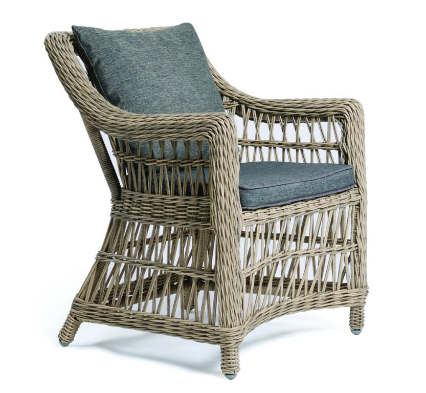 Kerti rattan szék DENVER - barna