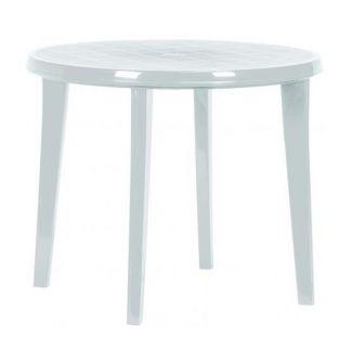 Kerti műanyag asztal LISA 90 cm, fehér