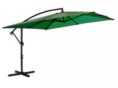 Négyzet alakú napernyő 8080, függesztett - 270 x 270 cm, zöld