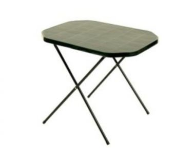 Kerti asztal CAMPING 53 x 70 cm - zöld
