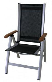Lehajtható fotel  COMFORT fekete